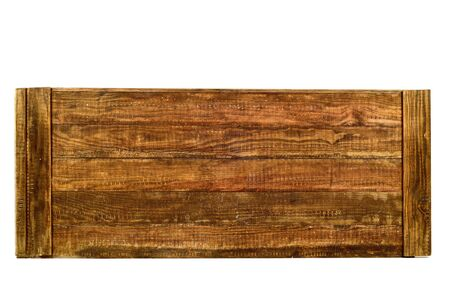 tongue and groove: some tongued rustic wooden planks on a white background