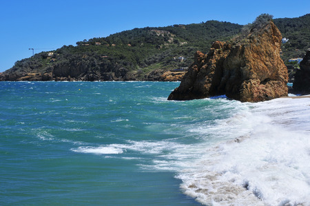 nudism: a view of the Cala Illa Roja beach in Begur, in the Costa Brava, Catalonia, Spain