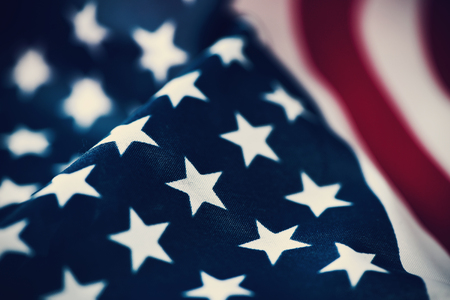 close-up van een vlag van de Verenigde Staten van Amerika