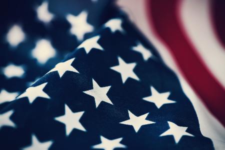 美国国旗的特写