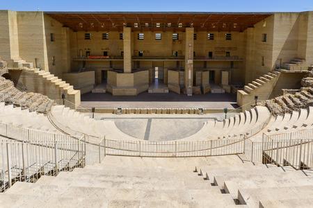 teatro antiguo: una vista del antiguo teatro romano de Sagunto, España