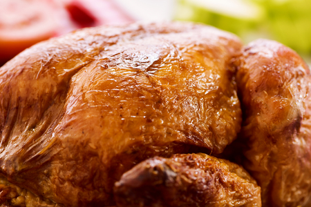 roast turkey: closeup of an appetizing roast turkey Stock Photo