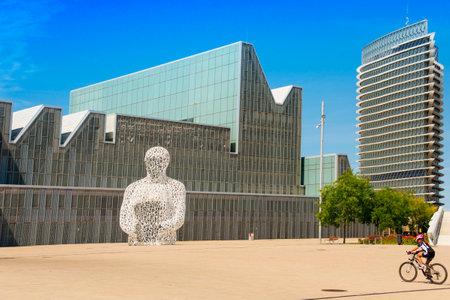 ZARAGOZA, SPAIN - AUGUST 19, 2017: A view of the main facade of the Palacio de Congresos de Zaragoza, in Zaragoza, Spain, built for the international exposition Expo 2008 Editorial