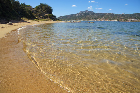 a view of the Cala Ginepro beach in the Costa Smeralda, Sardinia, Italy Banque d'images
