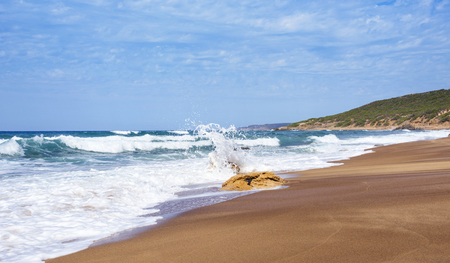 a view of the Spiaggia di Piscinas beach in Arbus, Sardinia, Italy Banque d'images
