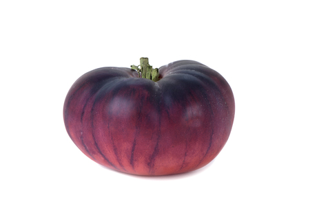 closeup of a blue beef tomato on a white background Banque d'images