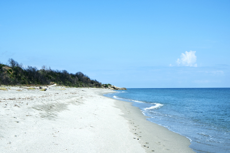 A view of the Riva Bella beach, in Aleria 写真素材