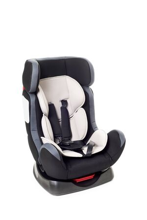 a child safety seat on a white background