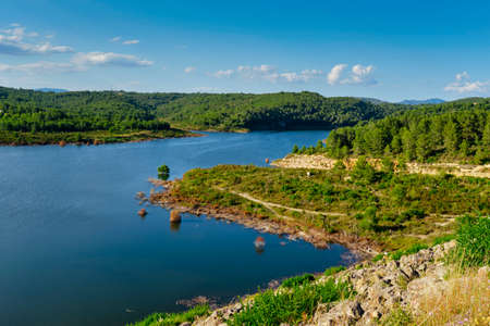 a view over the Gaia River at the El Catllar reservoir, in El Catllar, in the Province of Tarragona, Spain