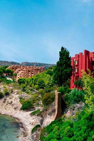 a view over the Cala La Manzanera beach in Calpe, in the Valencian Community, Spain