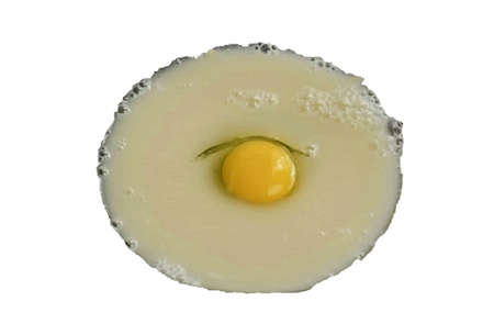 Beat in an egg and mix well until smooth.