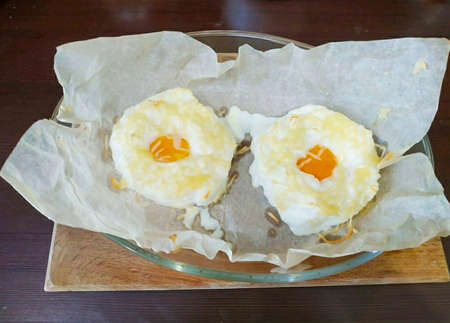 Voila, our quirky and airy breakfast is ready. Remove gently from the mold and serve hot! Orsini eggs are a simple dish with a beautiful European name. Perfect breakfast in 15 minutes. Fast, easy and satisfying, and a slice of crispy baguette will perfectly complement your French-style breakfast.