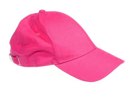 pink cap isolated on white background photo