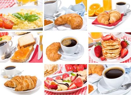 collage de desayuno