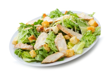 caesar salad: Caesar Salad on white background