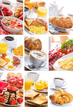 continental: breakfast collage