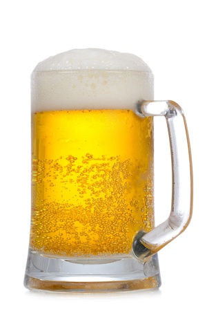 Mug of beer on a white background Stock Photo - 10023921