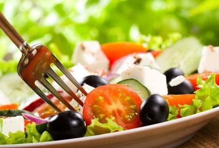 ensalada con verduras y hortalizas