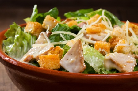 Caesar salad with chicken and greens Stock Photo - 11228527