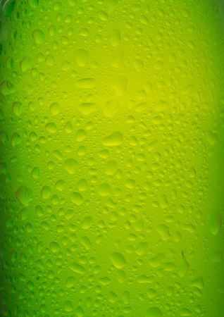 alcohol bottles: bottle of beer with water drops as background Stock Photo