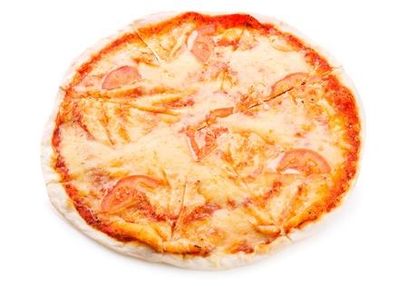 margarita pizza: margarita pizza on white background