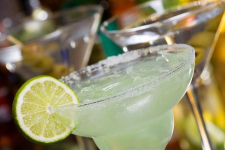 margarita drink: margarita cocktail with lime Stock Photo