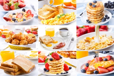 breakfast collage photo
