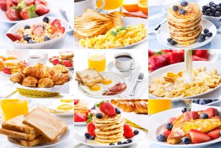 pancakes: breakfast collage