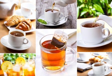 tea collage Stock Photo - 13961544