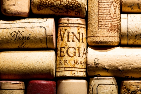 wine corks as background photo
