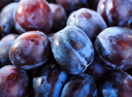 plum: fresh plums as background
