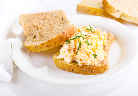 sandwich with egg salad on a plate Stock fotó