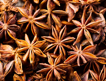 close up of star anise 스톡 콘텐츠