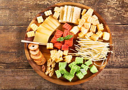 sorts: various sorts of cheese on a plate