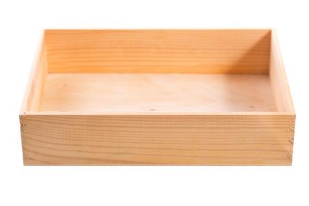 houten doos geà ¯ soleerd op witte achtergrond