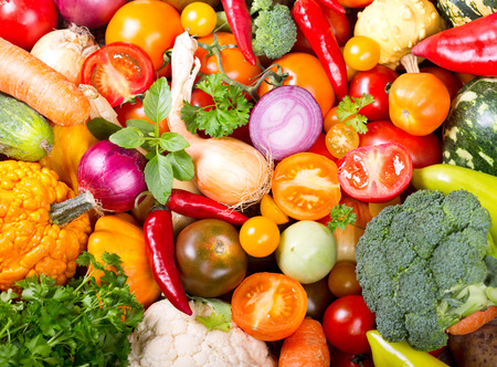verse groenten als achtergrond