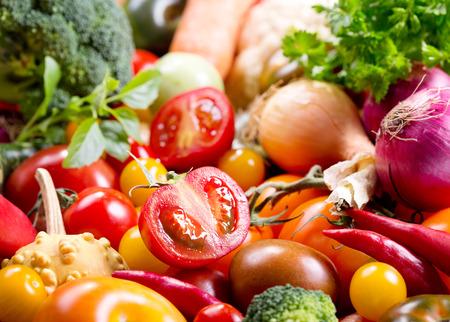 frischem Gemüse als Hintergrund