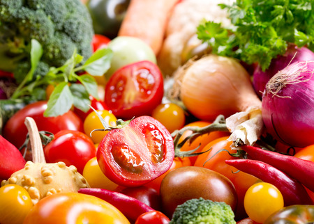verduras verdes: verduras frescas como fondo