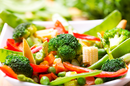 vegetarian food: mixed vegetables in a bowl