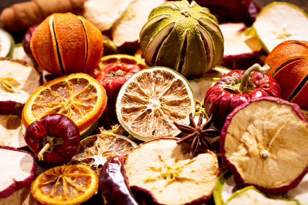 fragrant: Fragrant decoration of dried fruits as background