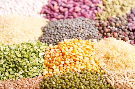 seeds of various: various cereals, seeds, beans and grains as background