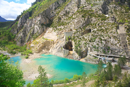 hydro electric: Hydro electric power plant in a mountains