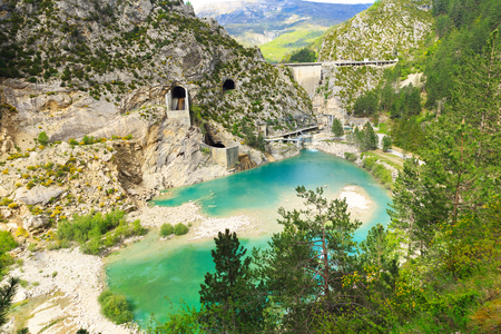 hydro electric: Hydro electric power plant in a mountains, France
