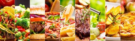 kolaż z różnych produktów spożywczych