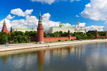 view of the Moscow Kremlin, summer day