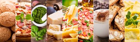 food collage of various italian cuisine