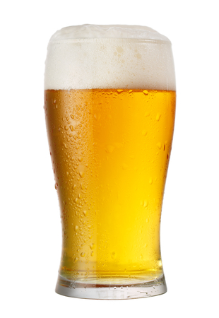 cold glass of beer isolated on white background Stockfoto