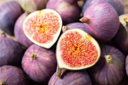 close up of fresh figs fruit as background Reklamní fotografie