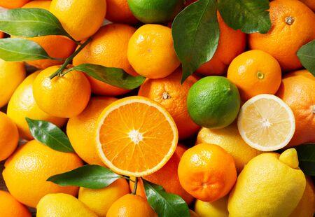 Mix of fresh fruits Stock Photo