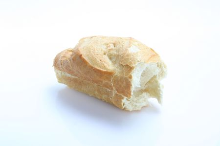 The isolated roll on the white
